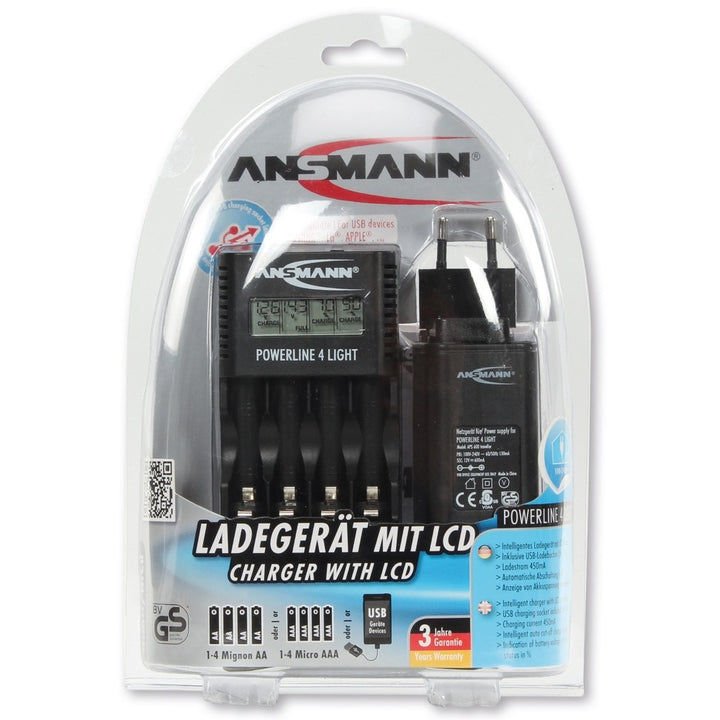 Ansmann Powerline 4 Light Charger - AA & AAA
