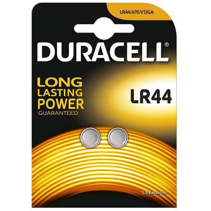 Duracell LR44 / A76 Button Cell Batteries