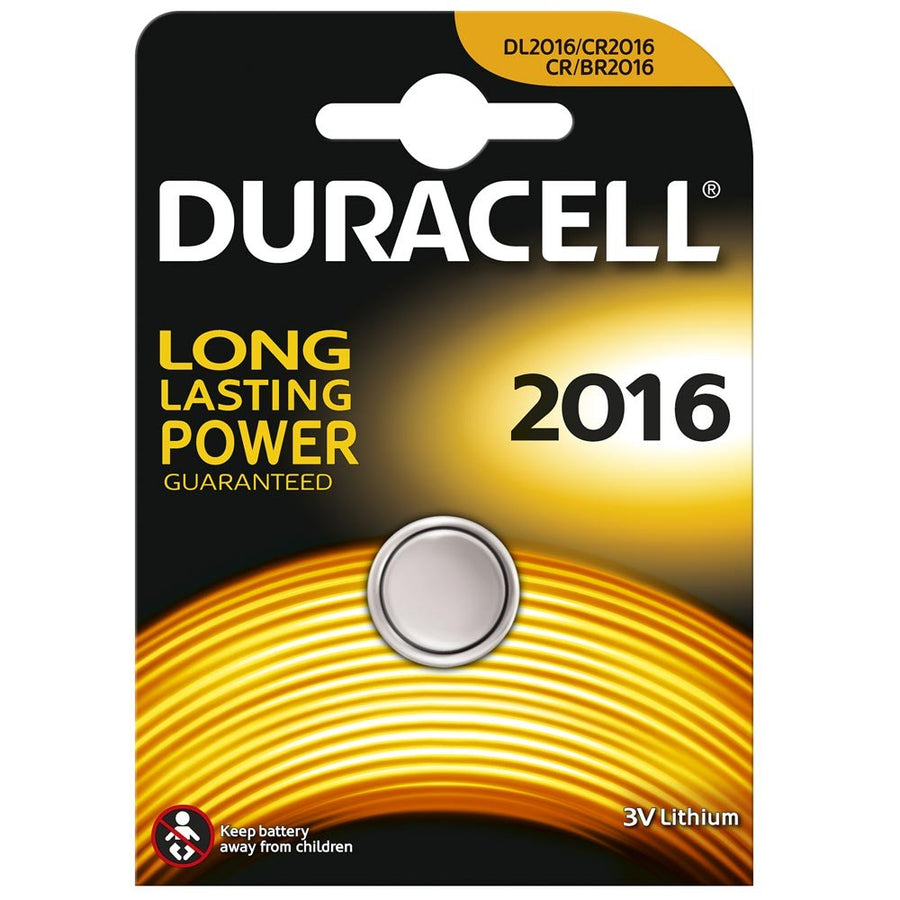 Duracell CR2016 3V Lithium Coin Cell 1PK