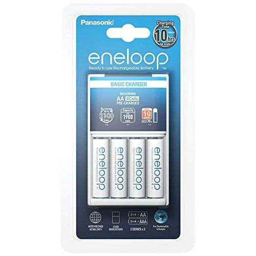 Panasonic Eneloop Basic Charger (BQ-CC51) with 4xAA 1900mAh