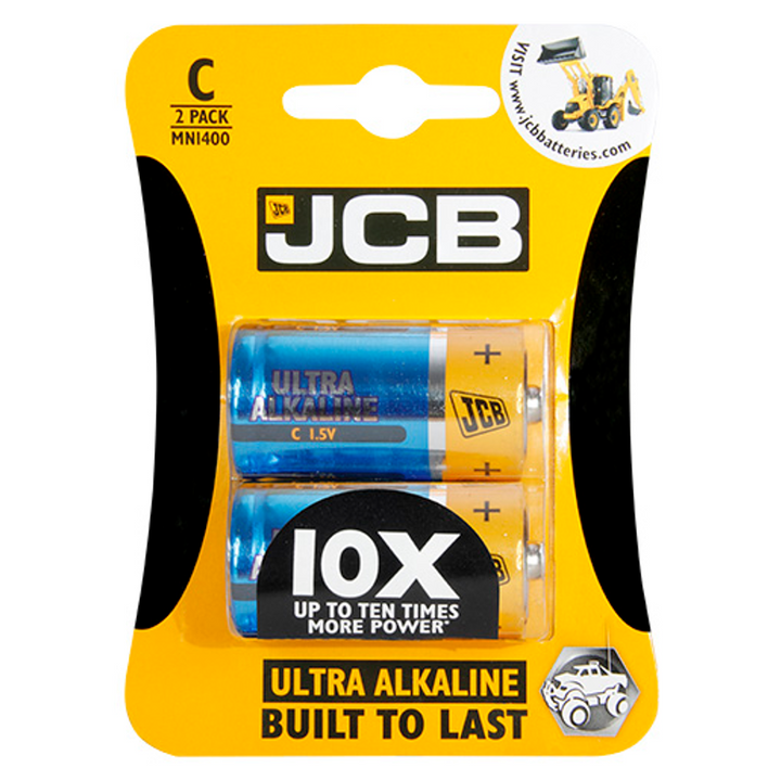 JCB Ultra Alkaline C / LR14 Batteries