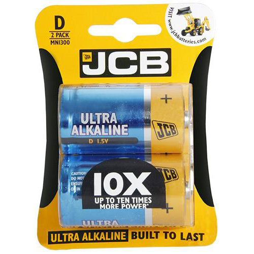 JCB Ultra Alkaline D / LR20 Batteries
