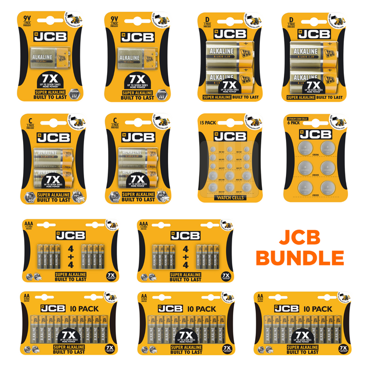 JCB Battery Bundle - 77 Batteries