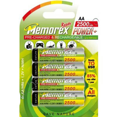 Memorex AA 2500mAh Rechargeable Batteries
