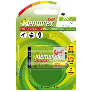 Memorex 9V PP3 220mAh Rechargeable Battery