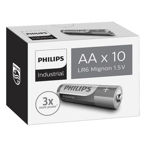 Philips Alkaline Industrial AA / LR6 Batteries 10PK