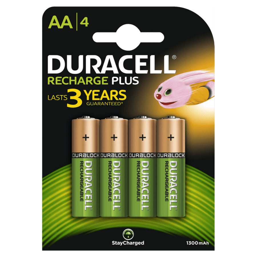 Duracell Recharge Plus AA 1300mAh Batteries