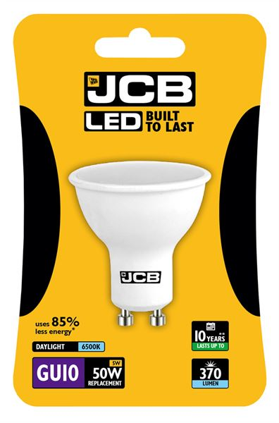 JCB LED GU10 5W Spotlight - Daylight
