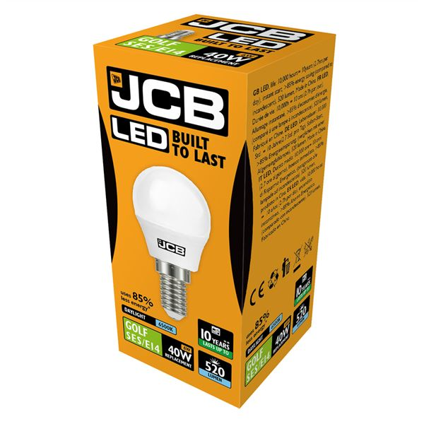 JCB LED E14 6W Golf Ball Bulb - Daylight