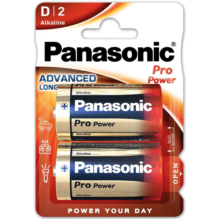 Panasonic Alkaline Pro Power D / LR20 Batteries