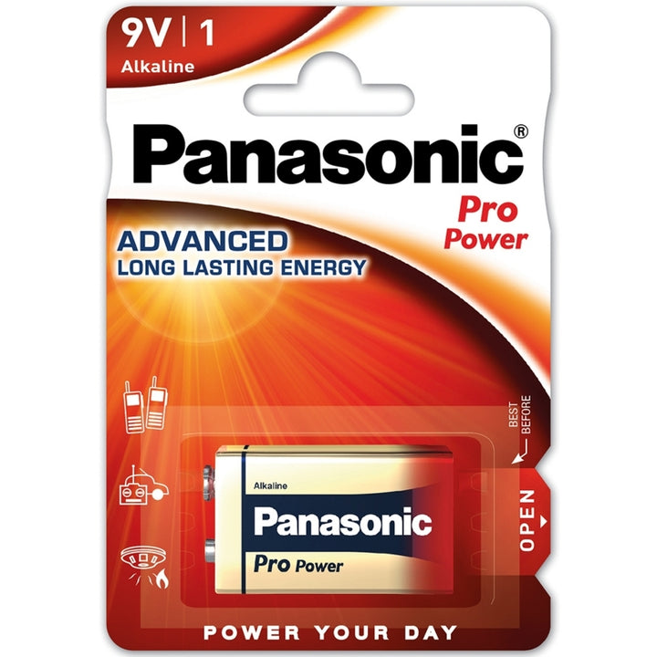 Panasonic Alkaline Pro Power 9V PP3 Battery