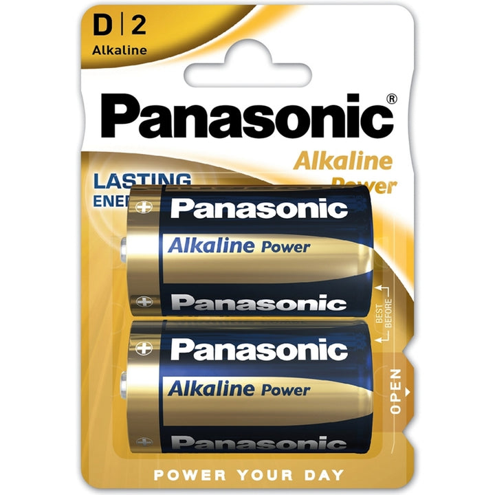 Panasonic Alkaline Power Bronze D / LR20 Batteries