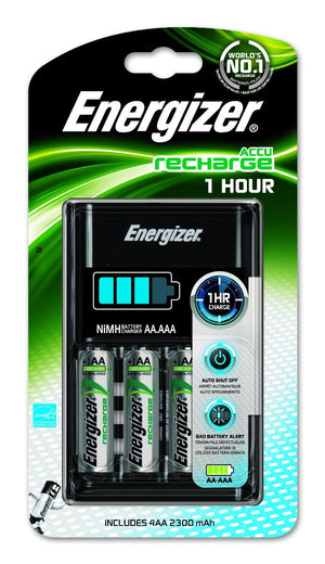 Energizer 1hr Charger w/4xAA 2300mAh Batteries