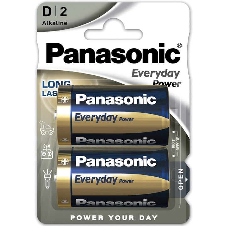 Panasonic Alkaline Everyday Power D / LR20 Batteries