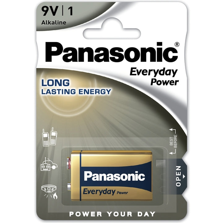 Panasonic Alkaline Everyday Power 9V PP3 Battery