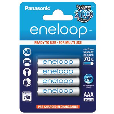 Panasonic Eneloop AAA 750mAh Rechargeable Batteries