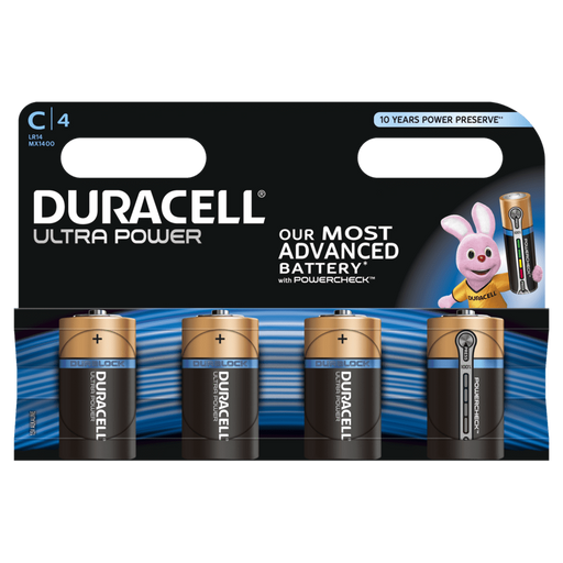 Duracell Ultra Power C / LR14 Batteries 4PK