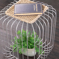 Kochi Jute Accent Table