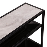 Doverlane Faux Marble Wrap Around Table