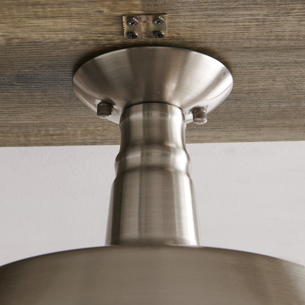 Close up of pendant's canopy and fixture