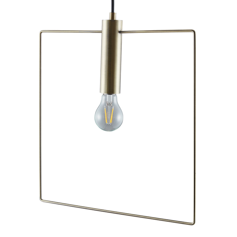 Cavazo Square Wire Light Fixture