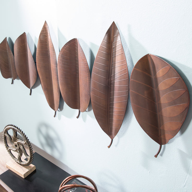 Sulina Metal Leaves Wall Sculpture