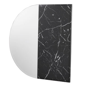 Bowers Decorative Wall Mirror - Black Faux Marble