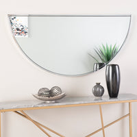 "Wyndowlyn Decorative Arched Mirror 48""- Chrome"