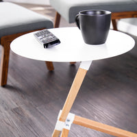 Ochina White Round Accent Table