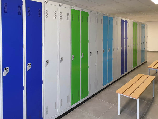 antibacterial metal lockers