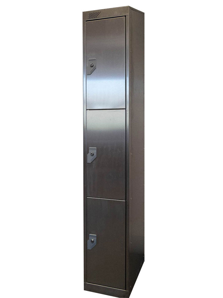 3 Door Stainless Steel Locker