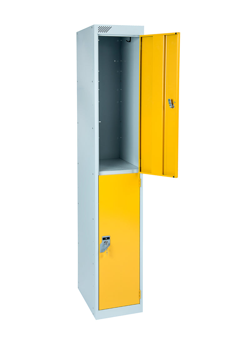 2 Door Antibacterial Metal Locker