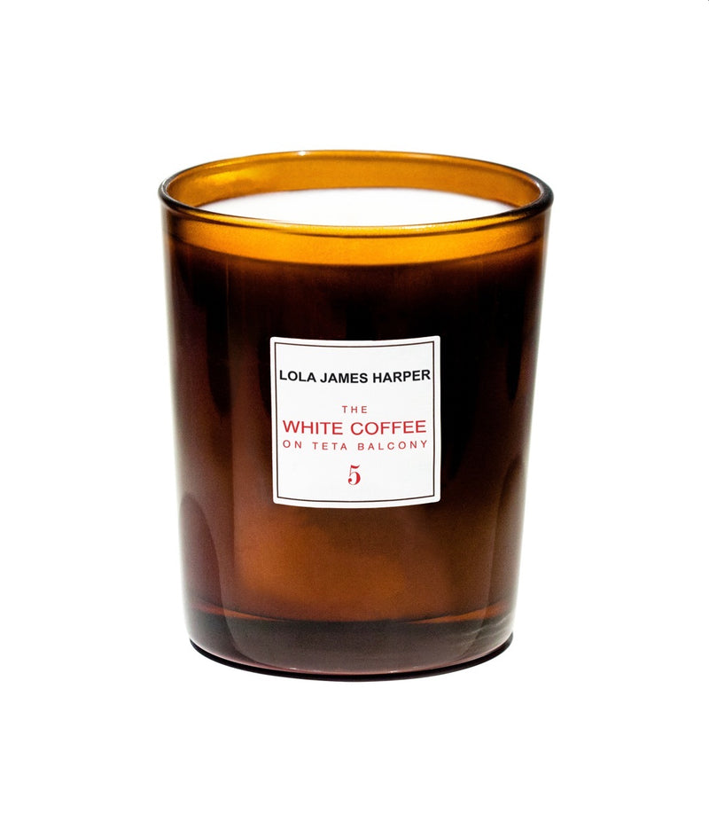 LOLA JAMES HARPER - 5 The White Coffee on Teta Balcony - 190G CANDLE