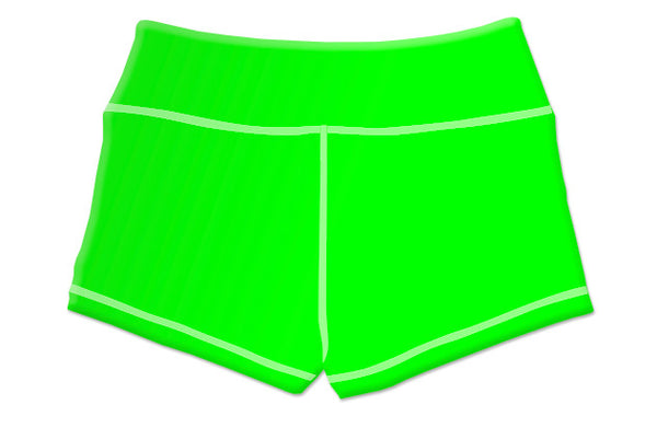 "Summer ""Neon Green"" Women's Highlighter Shorts"