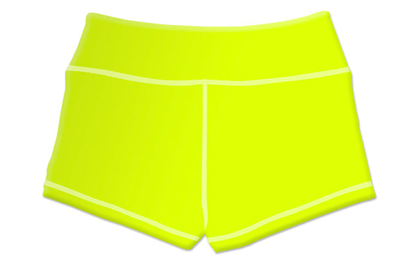 "Summer ""Sunstorm Yellow"" Women's Highlighter Shorts"