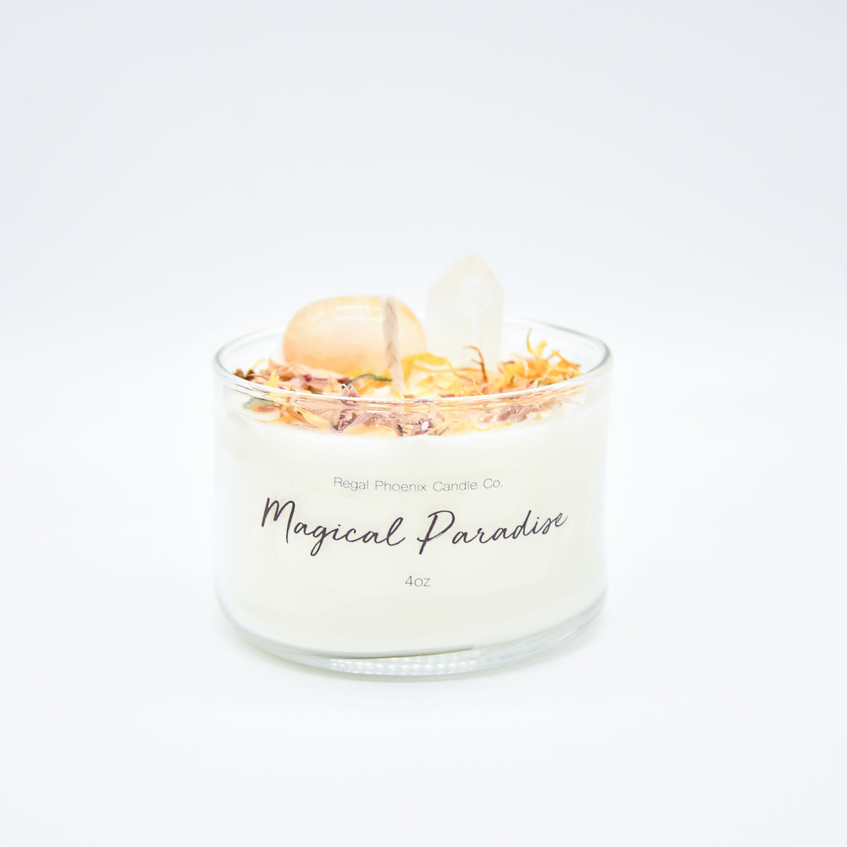 """Magical Paradise"" Crystal Infused Soy Candle"