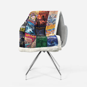 The Harry Potter Books Sherpa Blanket