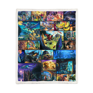 THE HARRY POTTER BOOK CHAPTER'S SCENES BLANKET