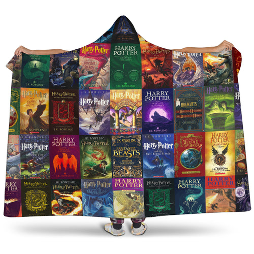 J.K. Rowling's Books Hooded Blanket