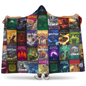 The Harry Potter Books Hooded Blanket