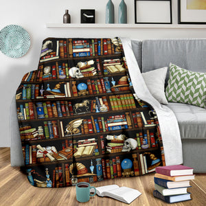 Wizards Bookshelf Sherpa Blanket