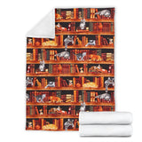 Cats on Shelf Sherpa Blanket