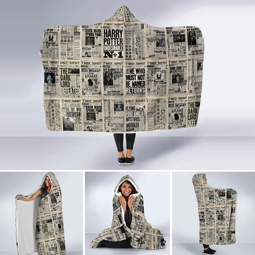 Daily Prophet Newspaper Hooded Blanket
