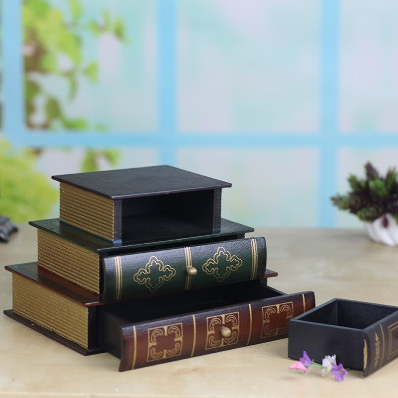 Antique Book Shape Jewelry Box