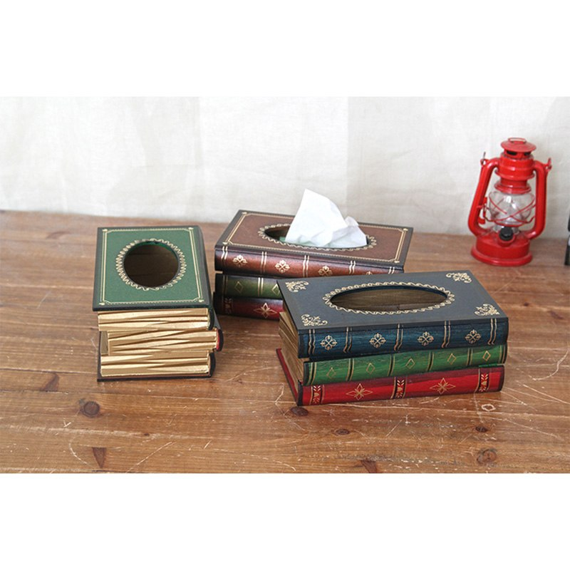 Retro Book Shape Tissue Box