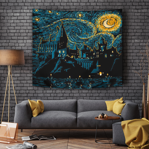 Hogwarts Starry Night Tapestry
