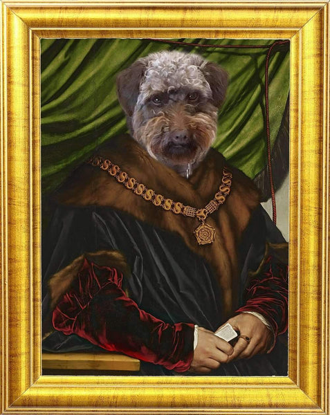 Hans Holbein Dog Portrait 🐶👑