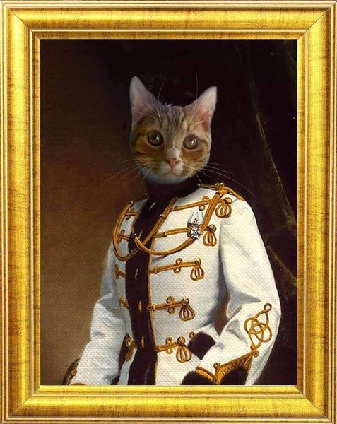 Retro Royal Cat Portrait 😻👑