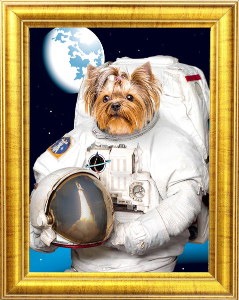 Astronaut Dog Portrait 🐶🚀