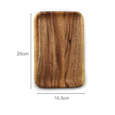 1 Pc Acacia Wood Rectangular Wooden Plate (Fruits, Snacks, Dessert, Sushi Serving Dish)